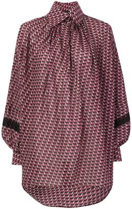 Etro oversized patterned button collar shirt