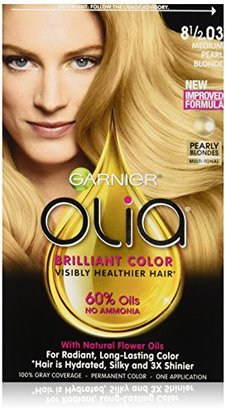 Garnier Olia Oil Powered Permanent Hair Color, 8.5.03 Medium Pearl Blonde (Packaging May Vary) $9.99 thestylecure.com