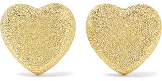 Carolina Bucci Heart 18-karat Gold Earrings - one size