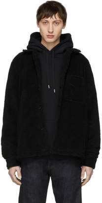 Nudie Jeans Black Recycled Fleece Sten Jacket