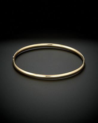 14K Italian Gold Polished Hinged Bangle