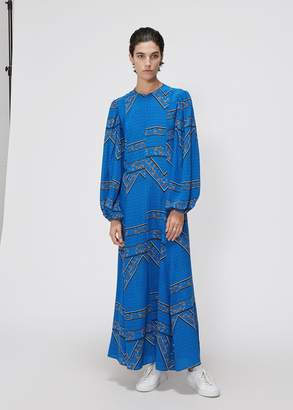 Ganni Long Sleeve Paisley Print Dress