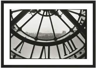 McGaw Graphics Clock Face at the Musee d'Orsay by Christian Peacock (Framed Print)
