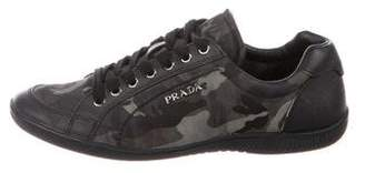 Prada Sport Camouflage Low-Top Sneakers