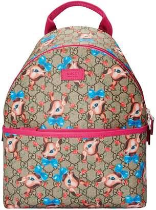 Gucci Kids Children's GG fawns backpack