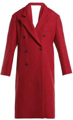 Maison Margiela Virgin Wool Open Back Coat - Womens - Red