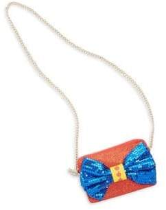 FANTASIA Sequin Bow Crossbody Bag