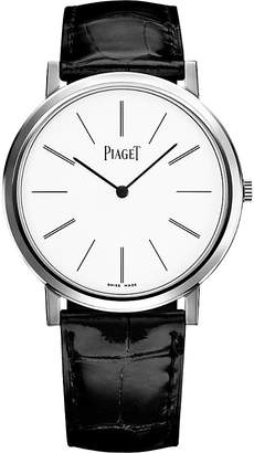 Piaget Altiplano 18-ct white gold and alligator watch