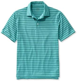 L.L. Bean L.L.Bean Stretch Polo Shirt, Slightly Fitted Short-Sleeve Stripe