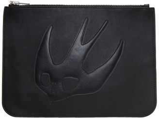 McQ Alexander McQueen Black Tonal Swallows Pouch $185 thestylecure.com