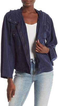 Vince Camuto Relaxed Hooded Bell Sleeve Jacket