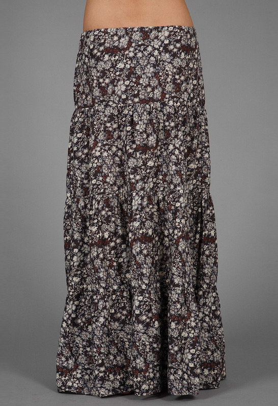 Blu Moon Cantina Diva Skirt in Multi Floral -