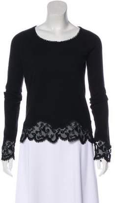 Rochas Wool Blend Long Sleeve Top