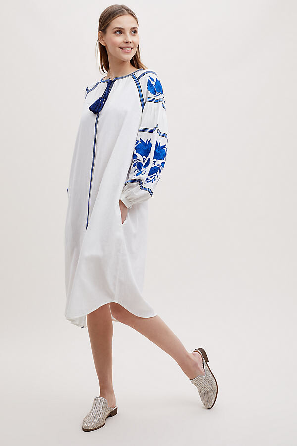 Kirei Pisa Besticktes Kleid - White