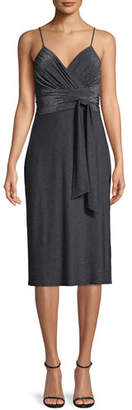 Halston Metallic Jersey Cami Dress