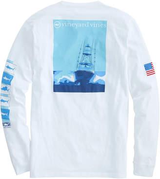 Vineyard Vines Long-Sleeve Sportfisher Poster Pocket T-Shirt