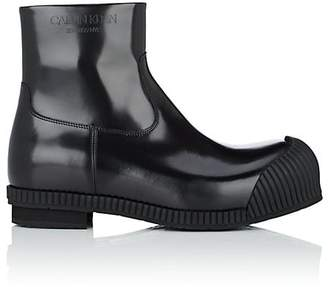 Calvin Klein Men's Spazzolato Leather Ankle Boots