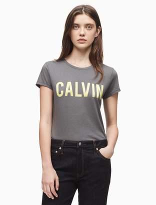 Calvin Klein logo cotton modal t-shirt