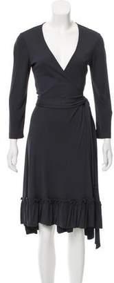 Diane von Furstenberg Wrap Knee-Length Dress
