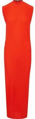 SOLACE London Arielle Plissé Gauze Maxi Dress