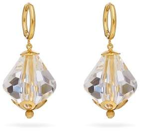 Simone Rocha Crystal Drop Earrings - Womens - Crystal