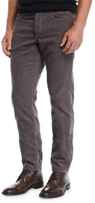 Rag & Bone Men's Fit 2 Mid-Rise Relaxed Slim-Fit Corduroy Pants, Charcoal