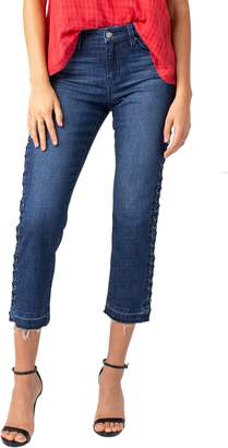 Liverpool Sadie Grommet High Waist Crop Straight Leg Jeans