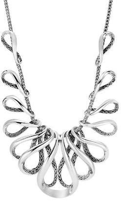 John Hardy Sterling Silver Classic Chain Bib Necklace, 16""