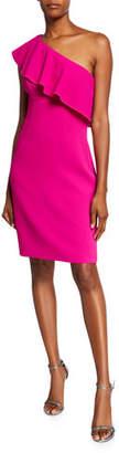 Trina Turk Wright One-Shoulder Ruffle Dress