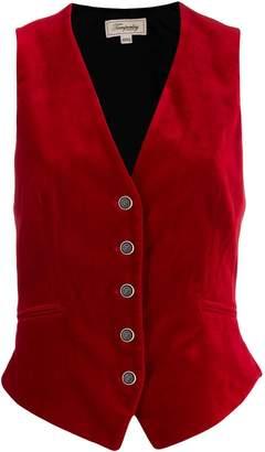 Temperley London Clove velvet single-breasted gilet