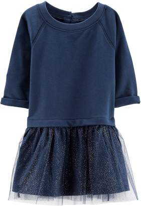 Carter's Baby Girl French Terry Glittery Tulle Dress