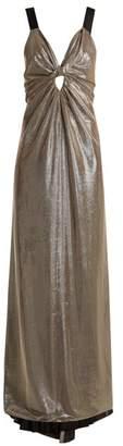 Azzaro Apolonia V-neck lamé gown
