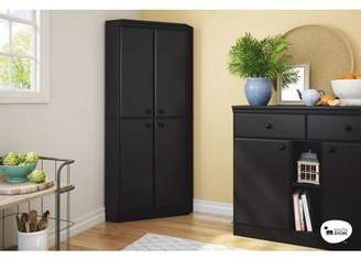 South Shore Furniture South Shore Morgan 4-Door Corner Armoire, Multiple Finishes