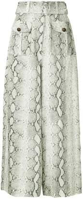 Zimmermann python print belted palazzo pants