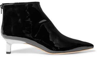 Marta Patent-leather Ankle Boots - Black