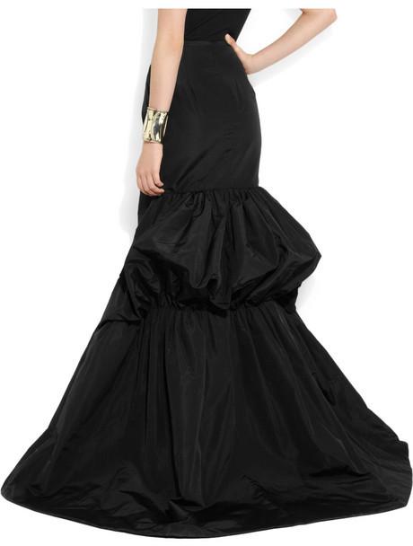 Michael Kors Cotton and silk-blend faille bustle maxi skirt