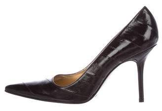 Dolce & Gabbana Eel Skin Pointed-Toe Pumps w/ Tags