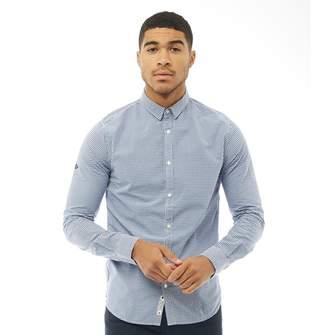 Superdry Mens Modern Classic Long Sleeve Shirt Richmond Blue Check