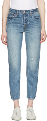 Levi's Blue Wedgie Fit Jeans $140 thestylecure.com