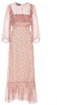 Rochas Printed silk midi dress