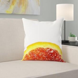 East Urban Home Blood Orange Throw Pillow East Urban Home