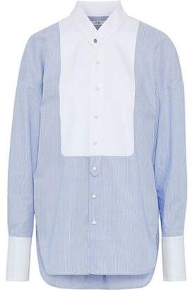 Tibi Oversized Striped Cotton-Poplin Shirt