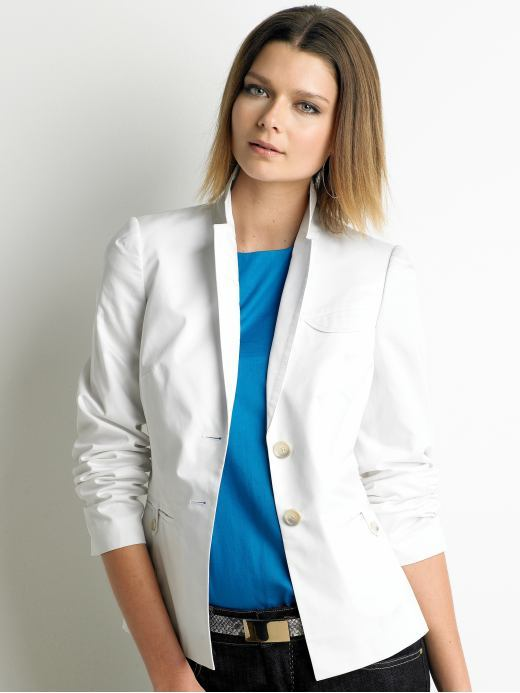Petite cotton blazer