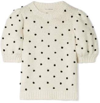 Ulla Johnson Bettine Pompom-embellished Cotton Sweater - Cream