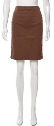 Jean Paul Gaultier Lace-Trimmed Knee-Length Skirt