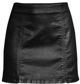 AG Jeans Adaline Coated Mini Skirt