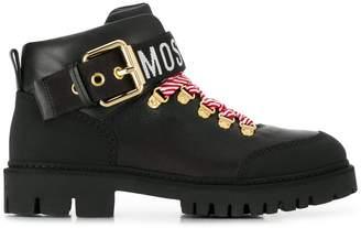 Moschino low biker boots