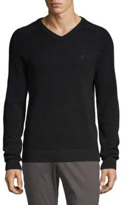 Original Penguin V-Neck Logo Cotton Sweater