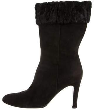 Chanel Round-Toe Cuffed Boots Black Round-Toe Cuffed Boots