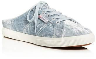 Superga Velveta Lace Up Slip-On Sneaker Mules - 100% Exclusive